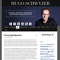 Blog | Hugo Schwyzer | Author, Speaker, Professor, Shattering Gender Myths
