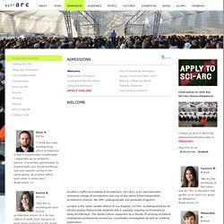 SCI-Arc: Admissions - Apply