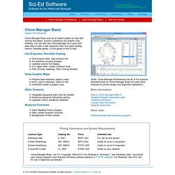 Sci-Ed Software - Products