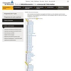 SCI6355 - Économie du document - Hiver 2010