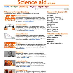 Science aid: Physical Chemistry