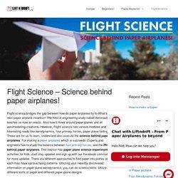 Science behind paper airplanes