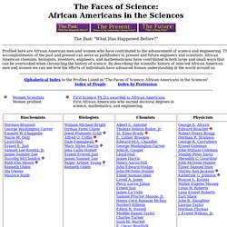 The Faces of Science: African Americans in the Sciences.