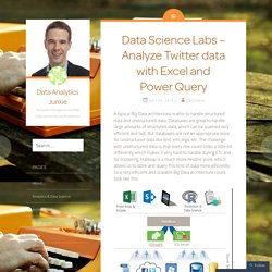 Data Science Labs – Analyze Twitter data with Excel and Power Query