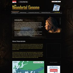 The Neandertal Genome - Background