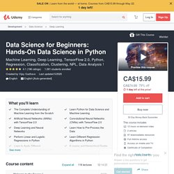 Data Science for Beginners: Hands-On Data Science in Python