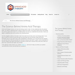 Science Behind Amino Acid Therapy