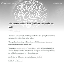 The science behind fonts (and how they make you feel) - Crew Blog