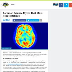Common Science Myths That Most People Believe