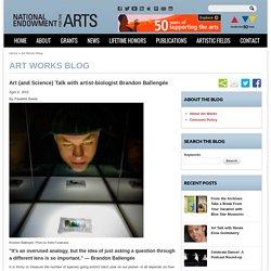 Art (and Science) Talk with artist-biologist Brandon Ballengée
