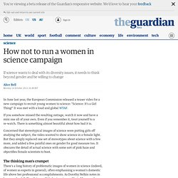How not to run a women in science campaign