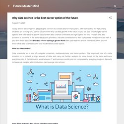 Why data science is the best career option of the future