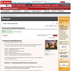 Science Careers Forum - Biotech, Pharmaceutical, Faculty, Postdoc jobs on Science Careers