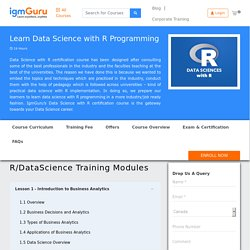 Data Science with R Online Certification Course- IgmGuru