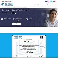 Best Data Science Certification Training Courses Delhi