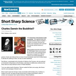 Charles Darwin the Buddhist?