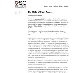 Open Science Collaboration Blog · The State of Open Access