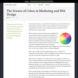 The Science of Colors in Marketing and Web Design