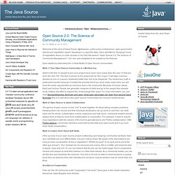 Open Source 2.0: The Science of CommunityManagement (The Java Source)