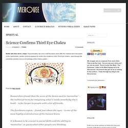 Science Confirms Third Eye Chakra « Merovee
