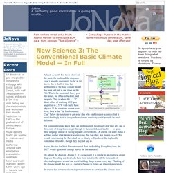 New Science 3: The Conventional Basic Climate Model — In Full