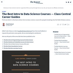 The Best Intro to Data Science Courses — Class Central Career Guides