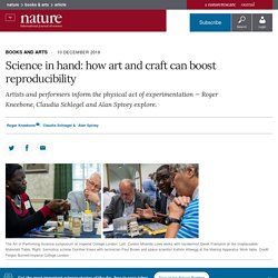 Science in hand: how art and craft can boost reproducibility