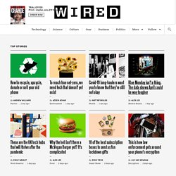 Future Technology News & Reviews - Wired.co.uk
