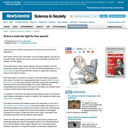 Leaks, hacks and science - science-in-society - 06 December 2011