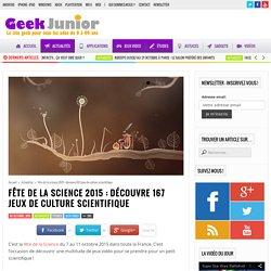 Fête de la science 2015 : découvre 167 jeux de culture scientifique
