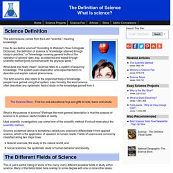 Science definition - What is science?