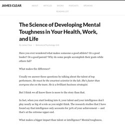 The Science of Developing Mental Toughness in Health, Work, and Life
