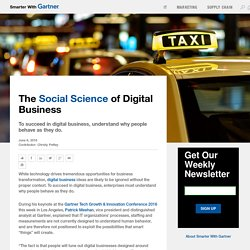 The Social Science of Digital Business