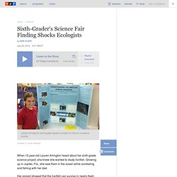 Sixth-Grader's Science Fair Finding Shocks Ecologists