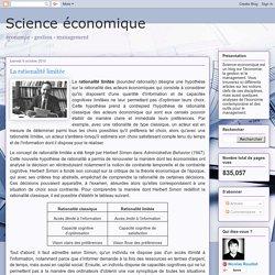 Science économique: La rationalité limitée