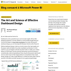 The Art and Science of Effective Dashboard Design