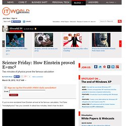 Science Friday: How Einstein proved E=mc²