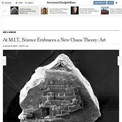 At M.I.T., Science Embraces a New Chaos Theory: Art