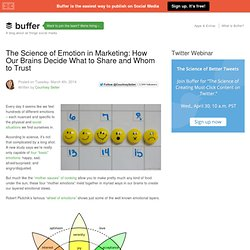 The Science of Emotion in Marketing: How We Decide What to Share and Whom to Trust