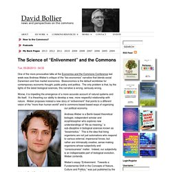 "The Science of ""Enlivenment"" and the Commons"