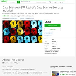 Data Science A-Z™: Real-Life Data Science Exercises Included