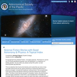 ASP: Science Fiction Stories with Good Astronomy & Physics