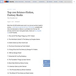 Top 100 Science-Fiction, Fantasy Books