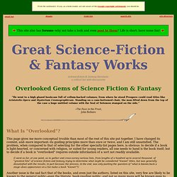 Great Science-Fiction & Fantasy Works: Overlooked Gems
