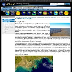 SCIENCE FOCUS: DEAD ZONES — GES DISC: Goddard Earth Sciences, Data & Information Services Center