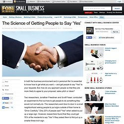 The Science of Getting People to Say 'Yes'