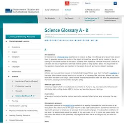Science Glossary A - K