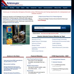 Science.govUSA.gov for Science - Government Science Portal