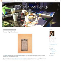 DIY Science Hacks: Faraday Cage Phone Pouch