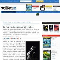 De l'harmonie musicale à l'émotion
